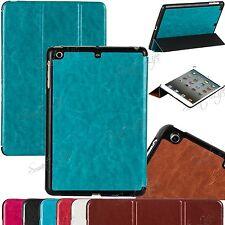 fino plegable libro carcasa con Soporte en cuero para iPad 6/5/4/3 / 2 Samsung