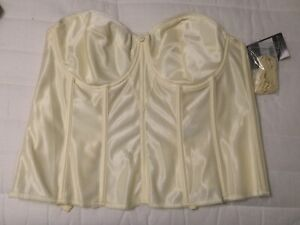 """NWT DOMINQUE """"JULIETTE"""" STRAPLESS Ivory BUSTIER/CORSET, STYLE 8950, SIZE 38DD"""