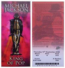 BILLET concert Michael Jackson Londres septembre 2009 + livret