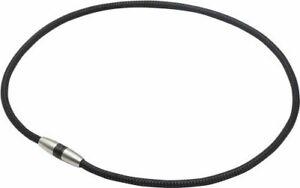 phiten Necklace RAKUWA Magnetic Titanium necklace Metal Black 45cm NEW