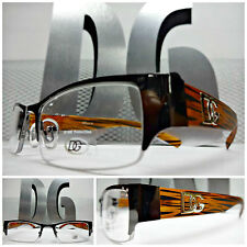 NEW Mens Women SOPHISTICATED CLEAR LENS DG Eyewear EYE GLASSES FRAMES Brown Wood