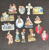 15 Die Cut Gift Tags Old Print Factory 1990s VTG Style Victorian Scrap Paper #4