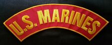 "LARGE 4"" X 12"" US MARINES ROCKER MOTORCYCLE BIKER JACKET VEST MILITARY PATCH"