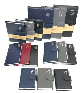2022 Diary A5 A6 Slim Pocket Premium Padded Organiser Week To View DAP With Pen