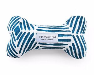 THE FOGGY DOG SAN FRANCISCO BOHO DIAMONDS SQUEAKY BONE DOG TOY