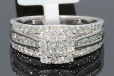 10K WHITE GOLD 1.10 CARAT WOMEN PRINCESS DIAMOND ENGAGEMENT RING WEDDING BRIDAL