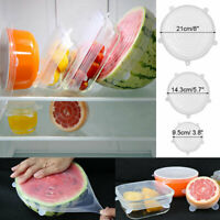 4pcs Reusable Silicone Wrap Bowl Seal Cover Stretch Lid Keep Food Fresh 5 Size