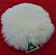 "GENUINE AUSTRALIAN WHITE SHEEPSKIN 15"" PILLOW COVER ~ BRAND NEW WITH TAG"