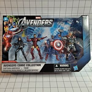 """Marvel Universe 3.75"""" Avengers Comic Collection 4-Pack Set 01"""