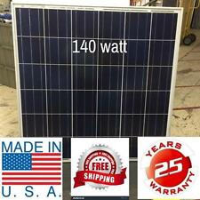 1- 140  Watt 12 Volt Battery Charger Solar Panel Off Grid RV Boat 140 watt total