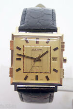 NOS 18K Gold JUVENIA MACHO Mens 25J AUTOMATIC Watch 8902 1 Year Store Warranty