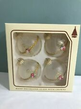 Christmas by Krebs Frosted Ornaments Set of 4