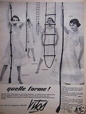 PUBLICITÉ 1957 VITOS LINGERIE QUELLE FORME ! -  ADVERTISING