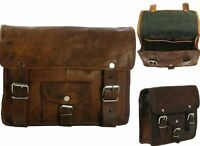 Motorcycle Side Pouch Saddlebags Brown Leather Bag Panniers 1 Bag