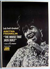 ARETHA FRANKLIN 1968 vintage POSTER ADVERT THE HOUSE THAT JACK BUILT