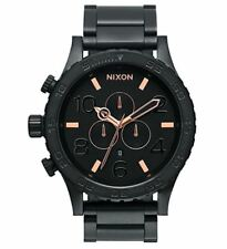 *NEW* NIXON 51-30 A083-957 WATCH MENS BLACK ROSE GOLD TONE - NEXT DAY DELIVERY