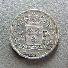 FRANCE LOUIS XVIII - 1 Franc - 1824 A - Argent, RECHERCHÉE, QUALITÉ SUP !