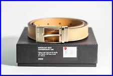 Montblanc Oblong Light Gold Mat Pin Buckle Country Calf Strap Camel 3x 120 cm