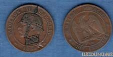 2nd Empire, 1852-1870 – 10 Centimes Satirique III 1854 BB Strasbourg Napoléon II