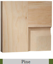 4 Panel Raised Clear Pine Stain Grade Solid Core Interior Wood Doors 8'0 Height