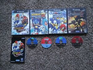 4 Game Gamecube Lot - Sonic Adventure DX, 2 Battle, Heroes, Shadow the Hedgehog