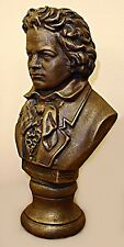 BUST OF BEETHOVEN MUSIC ANTIQUE BROWN FINISH