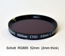 Schott RG665 52mm, 665nm Infrared Longpass Filter, Color IR
