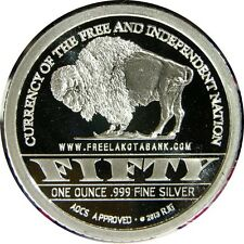 elf Lakota Tribal Lands 50 Units 1 Ounce 2013 Proof Crazy Horse Buffalo