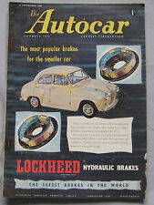 Autocar magazine 27/9/1957 featuring Dodge Custom Royal road test