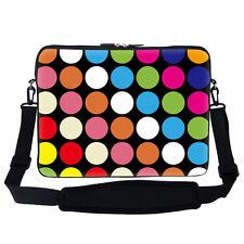 """15.6"""" Laptop Computer Sleeve Case Bag w Hidden Handle & Shoulder Strap 2729"""