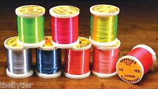 "DANVILLE FLUORESCENT FLOSS ""COMPLETE 8 SPOOL SET""  Nylon -- Fly Tying Fl"