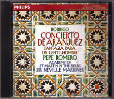 Pepe ROMERO RODRIGO Concierto de Aranjuez Fantasia gentilhombre MARRINER CD 1994