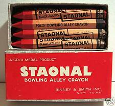 Binney & Smith Bowling Hex Crayon + Box Old Store Stock
