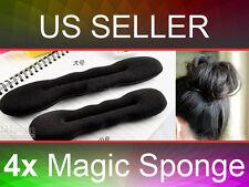 4pc Foam Sponge Magic Bun Hair Styling Sponge Roll Twist Maker Former