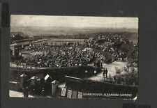 Vintage Black and White Postcard Scarborough Alexandra Gardens posted 1909