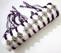 Success Good Luck Hamsa HAND Evil Eye String PURPLE Kabbala Bracelet HOLY Charm