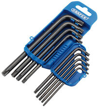Draper TX-STAR Torx Allen Key Set T10, T15, T20, T25, T27, T30, T40, T45 and T50
