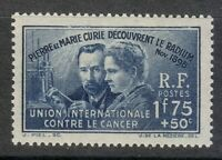 France 1939 MNH Mi 433 Sc B76 Curie, Pierre and Marie ** Nobel Prize in Physics