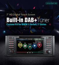 "AUTORADIO BMW E39 E38 NAVIGATORE GPS 7""HD DVD USB SD DAB INTEGRATO XTRONS CANBUS"