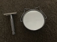 Vintage Gillette Razor, S P Double Edge Safety Razor With Travel Shaving  Mirror