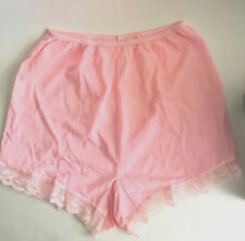 Vintage Panties Pink Lace Sissy Sheer All Nylon Tricot sz 8 L New