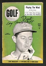 CARY MIDDLECOFF 1955 MASTERS WINNER GOLF DIGEST MAGAZINE AUTOGRAPHED SIGNED JSA