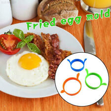 6FF5 Silicone Rings Round Egg Mould Shaper Frying Oven Kitchen Color Random