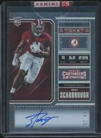 2018 Panini Contenders Draft Picks Bo Scarbrough Rookie Auto #/25 Bowl Ticket SP