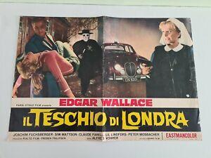 CINEMA Locandina Fotobusta Il Teschio Di Londra Wallace Horror