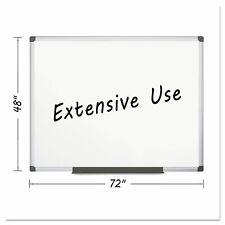 Mastervision Porcelain Value Dry Erase Board 48 X 72 White Aluminum Frame