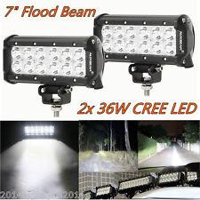 2X 36W Cree LED Offroad Work Light Bar Flood Beam Driving Fog Lamp 4x4 SUV Truck