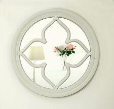 "Pergomas White Shabby Chic Round Window Wall Mirror 60 x 60cm (24"" x 24"")"