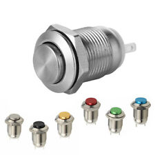 Multicolor 250v Waterproof Start 12mm Momentary Push Button Switch Metal