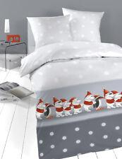 Bettwäsche Kinder Winter Kinderbettwäsche warm 2 tlg weich 100x135 Pinguin Santa